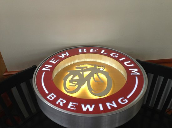 New Belgium Brewing: Cool table!