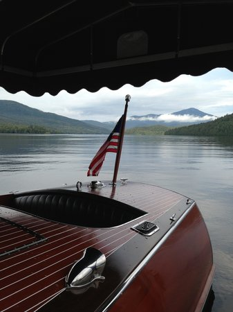 Lake Placid Lodge: boat on lake