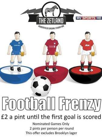 The Zetland: Football Frenzy