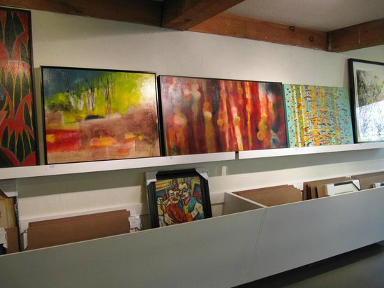 Strata Gallery: Browsing through the many colourful one of a kind art pieces.