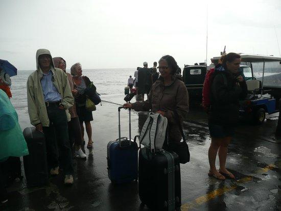 Hotel Villaggio Stromboli: arrivée sous l'orage