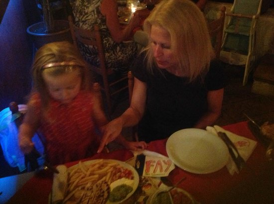 Los Bandidos: Even the kids get a nice meal (not too spicy for them)