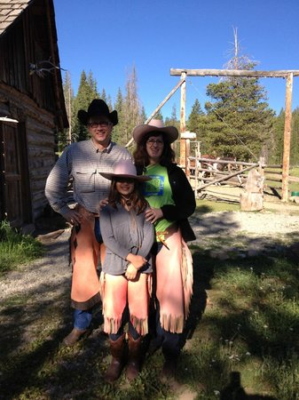 Galena Stage Stop Corrals: Chaps and hats