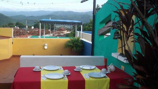 Casa Laura y Ruben : la terrasse