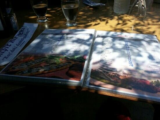 Enistenin Yeri : The menu