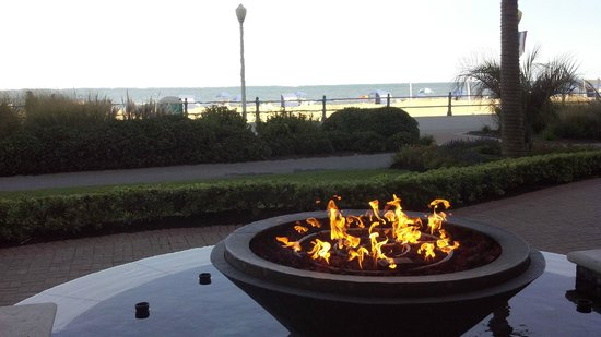 nice touch. fire pit on the Oceanair, adjoing property to the Ocean Beach Club