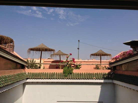 Riad Les Lauriers Blancs : Vue depuis la chambre Turquoise