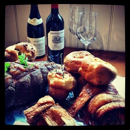 The Laughing Onion: Sunday roast specials. Topside of beef and Pork Loin
