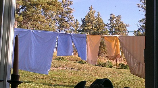 Sawin' Logs: Sheets Drying in the Wyoming Sunshine