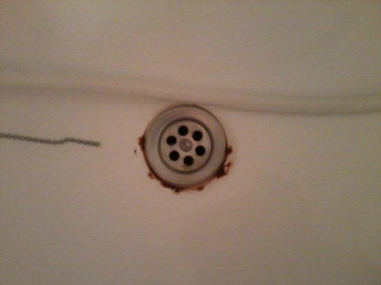 Hotel La Albarizuela: bañera oxidada