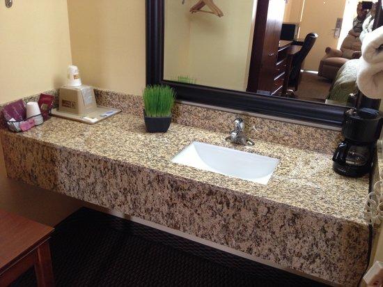 Budget Host Inn : Modern Granite Vanity