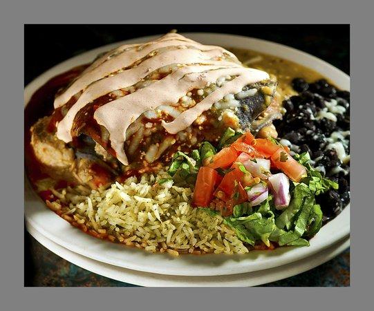 15 Quince Grill & Cantina: Blue corn chicken enchiladas