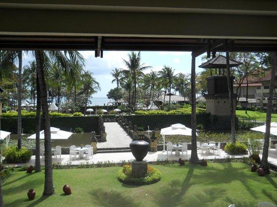 Hadleigh Hotel: superbes jardins jusqu'à la mer...