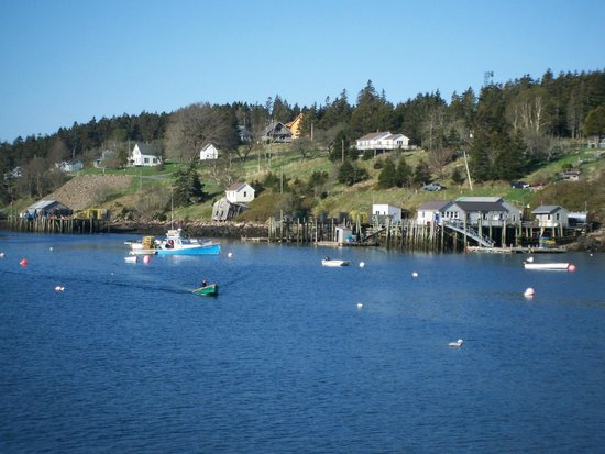 Frenchboro, ME: View toward Lunt's from the east side of the harbor