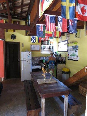 Biergarten Hostel: Die Küche im Obergeschoss