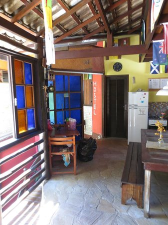 Biergarten Hostel : Die Küche im Obergeschoss