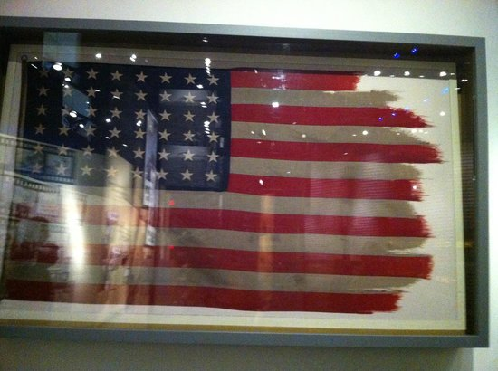 National Museum of the Marine Corps: The flag from the famous picture