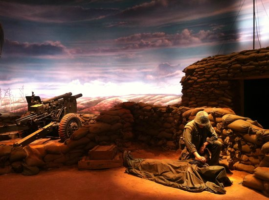 National Museum of the Marine Corps: one of the recreated scenes