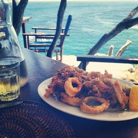 Papalagi Taverna : frittura e panorama fantastico.