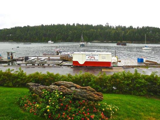 Quahog Bay Inn in Harpswell, Maine: View from hill