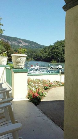 The 1927 Lake Lure Inn and Spa: View From My Rocking Chair