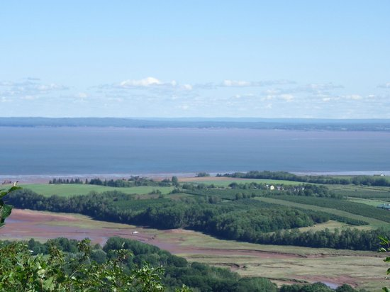 The Look Off: View of Minas Basin and Valley farmland