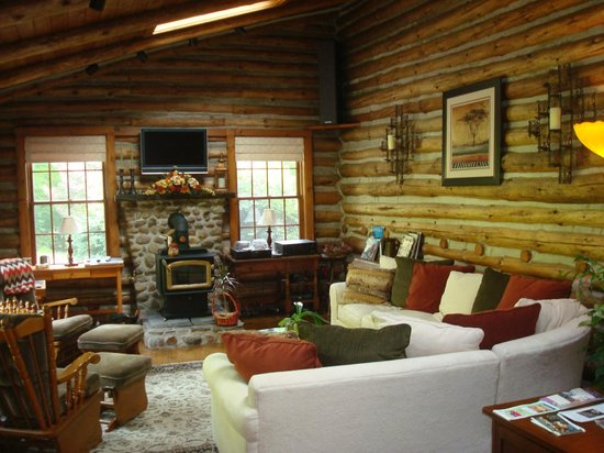The Chalet of Canandaigua: Reading room and  tv