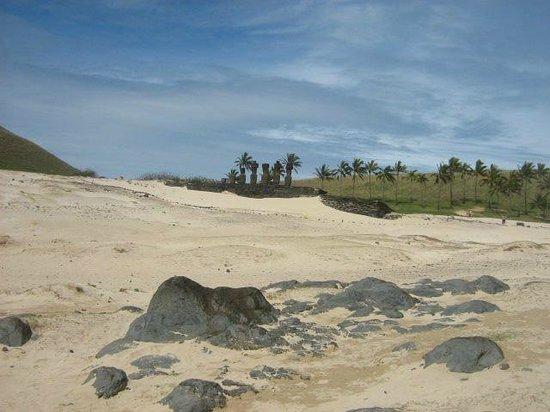 Chez Cecilia: playa Anakena