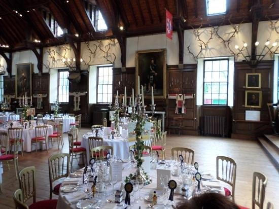 Blair Castle Caravan Park: Blair Castle Ballroom (layed out for wedding)