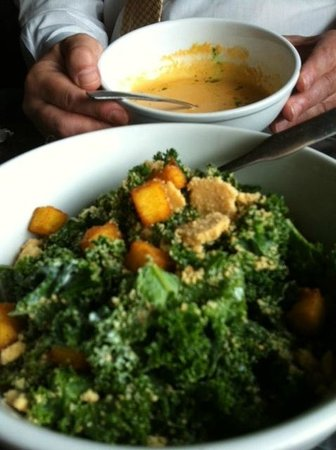 Downtown City Tavern : Kale Salad with Polenta Croutons