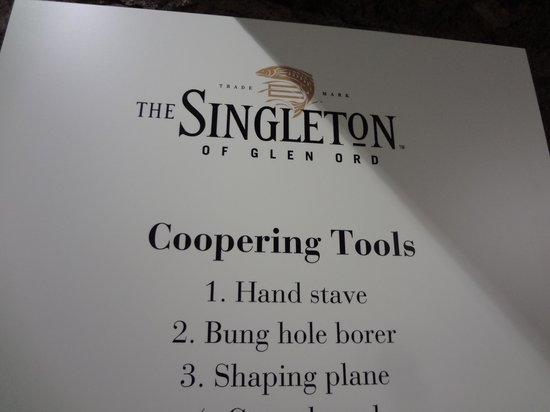 Glen Ord Distillery: Coopering tools that my kids found very amusing!