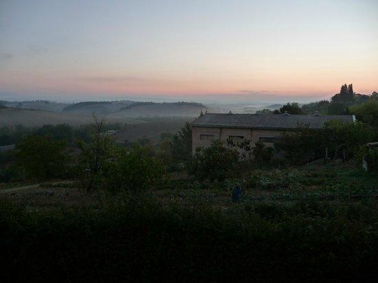 Tenuta la Santissima: View over Siena