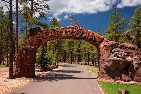 Williams, AZ: Bearizona Entrance Arch