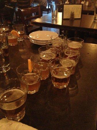 Q Roadhouse: Beer samples