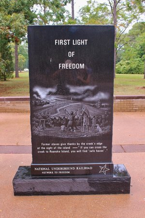 Fort Raleigh National Historic Site: Freedom Stone Marker