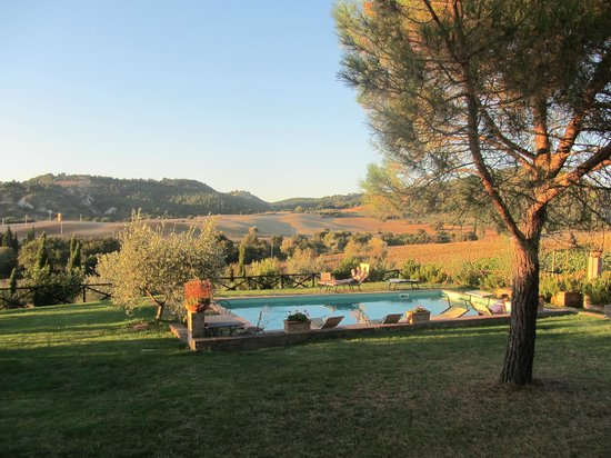 Agriturismo Podere Santa Maria : View of the pool from our room