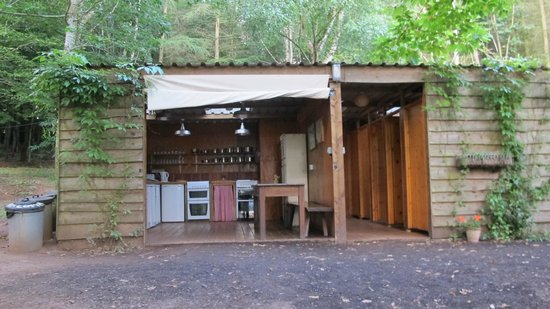 Woodland Tipis and Yurts: Communal Kitchen