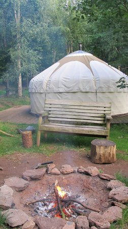 Woodland Tipis and Yurts: Valley Yurt & Private Fire Pit