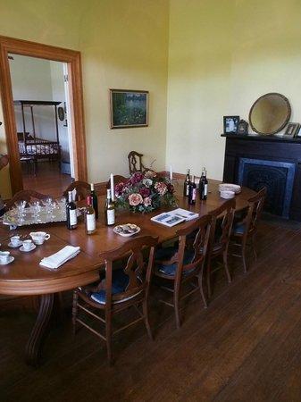 St. Joseph Plantation : dining room; bedroom adjoining