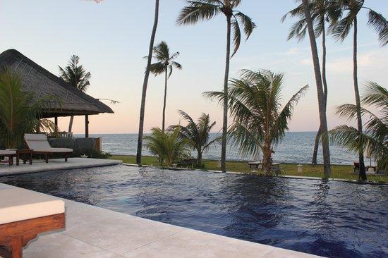 Kubu Indah Dive & Spa Resort: Infinity pool(s) view and bar