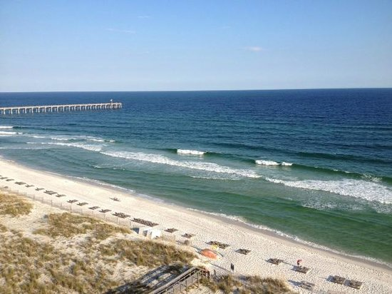 Margaritaville Beach Hotel: View of Beach & Pensacola Pier From Room