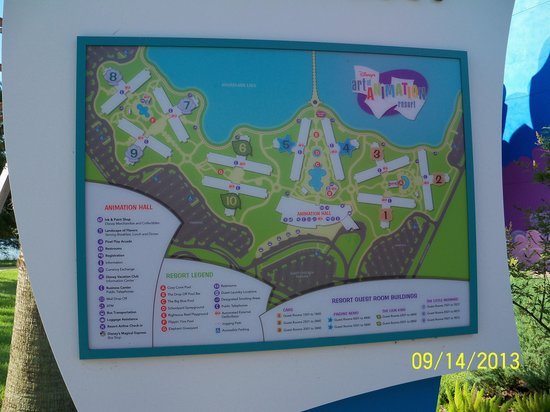 Map of the resort , Picture of Disney\u0027s Art of Animation