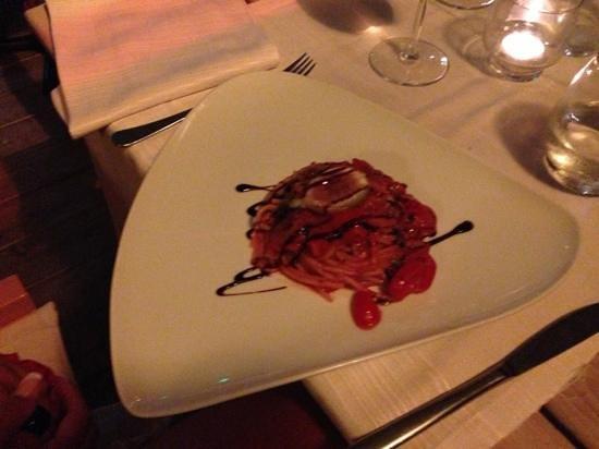 The Blues Cafe: spaghetti fichi pachino e aceto balsamico *.*