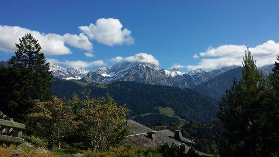 Chalet Martin : view from Villars (2 minute tram ride away)
