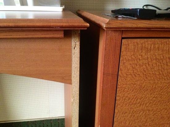 Quality Inn & Suites: damage on some furniture.