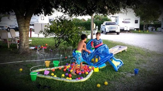 Fort Pierce KOA : The boys enjoyed the toys the parked had