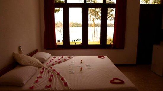 Riverside Inn Fuji Bentota: Ausblick vom Zimmer