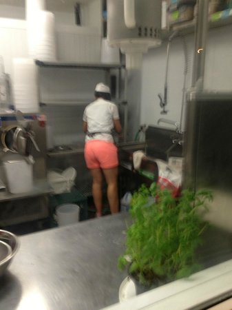 Rocky Point Ice Cream Store : The kitchen for crafting specialty ice cream