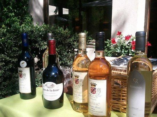Hotel Restaurant Villa Glanum Saint Remy de Provence : selección de vinos locales