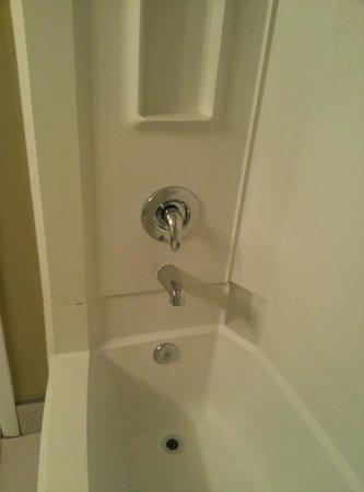 Beach House Dewey: spotless shower, shampoo and shower gel provided. no hair dryer